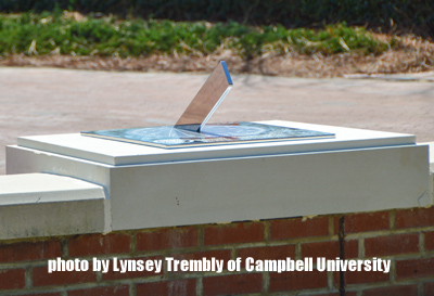 Campbell Univ Commemorative Sundial