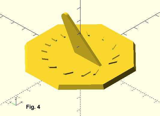 Part 3 Fig.4 Sundial with Gnomon